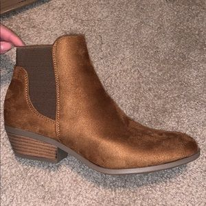 """NWB brown """"suede"""" ankle booties"""